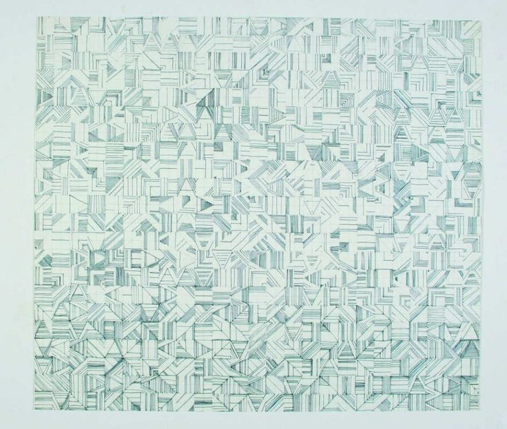 Vera Molnar, À la recherche de Paul Klee (Searching for Paul Klee), 1971, felt-tip pen on paper (hand drawing)