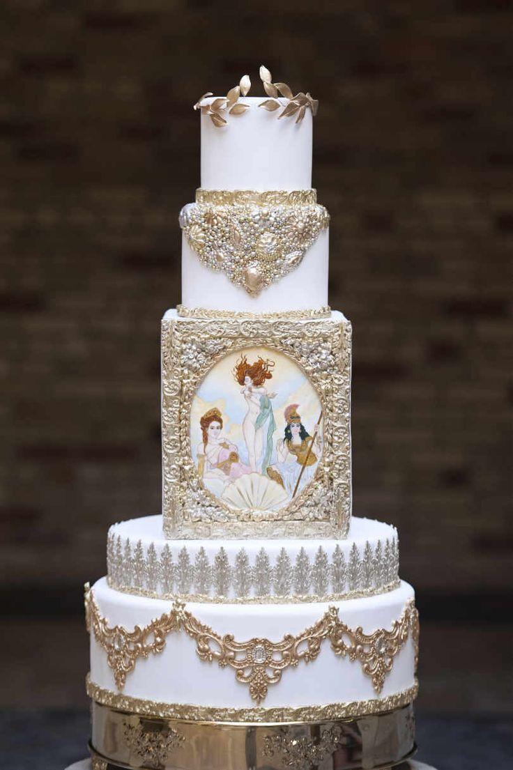 Goddesses of Love: Aphrodite, Hera and Athena | Stylist and co-ordinator: Glaze Events | Venue: Hacienda Sarria | Photographer: Amsis Photography | Wedding cake: Fine Cakes by Zehra | Décor: Cynthia Findlay Antiques