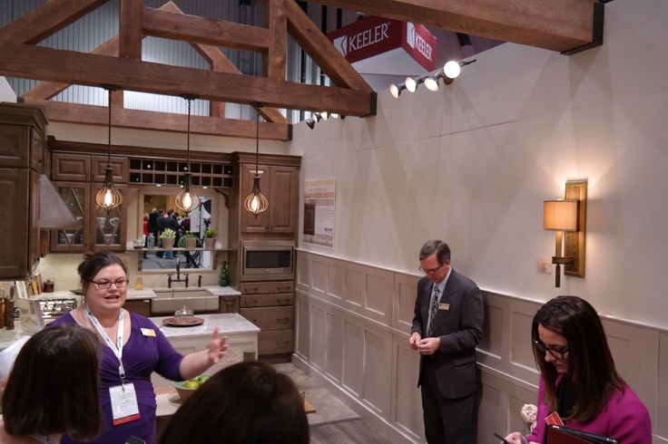 Great shot of the wainscoting in the beautiful Wellborn Cabinet Inc booth!