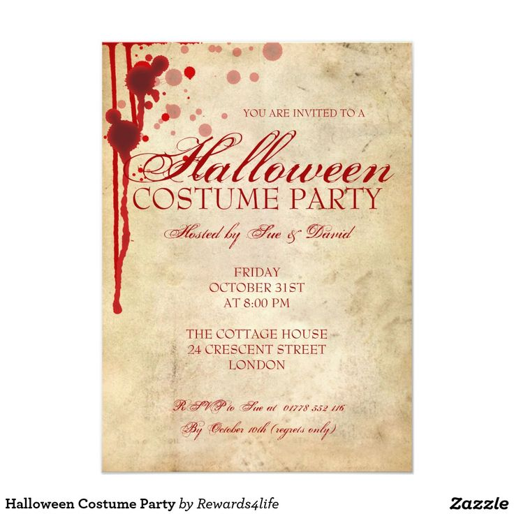 53 best stuff to buy images on pinterest invitation cards shops halloween costume party 45 x 625 invitation card stopboris Choice Image