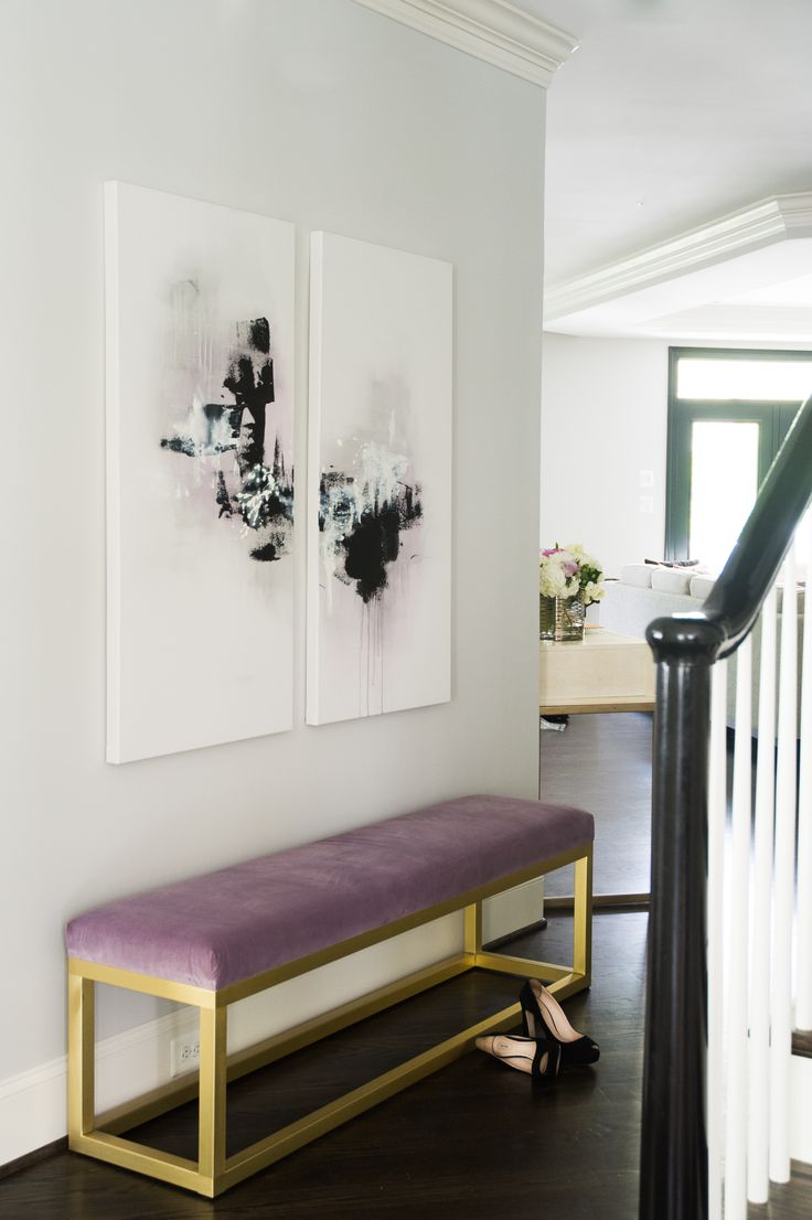 Foyer Seating Area : House tour a fashion stylist s dc area home proves black