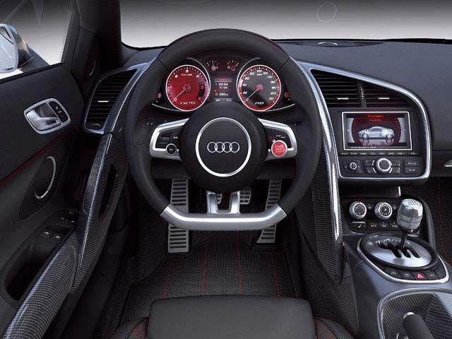 Interior of the Audi R8