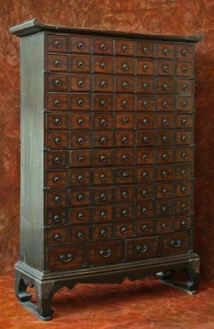 korean wedding chest | Antique Korean Traditional Doctor's Medicine Chest : Lot 331
