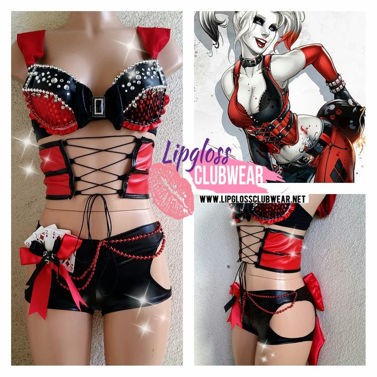 Badass Sexy Harley Quinn inspired Costume with by LipglossWear, $135.00