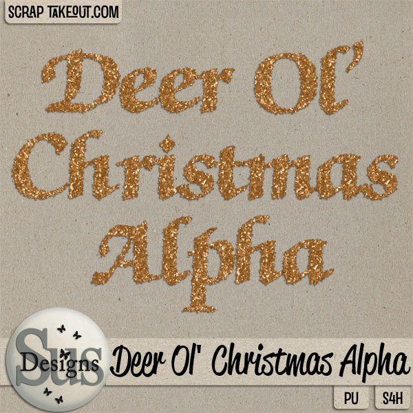 Deer Ol Christmas Alpha