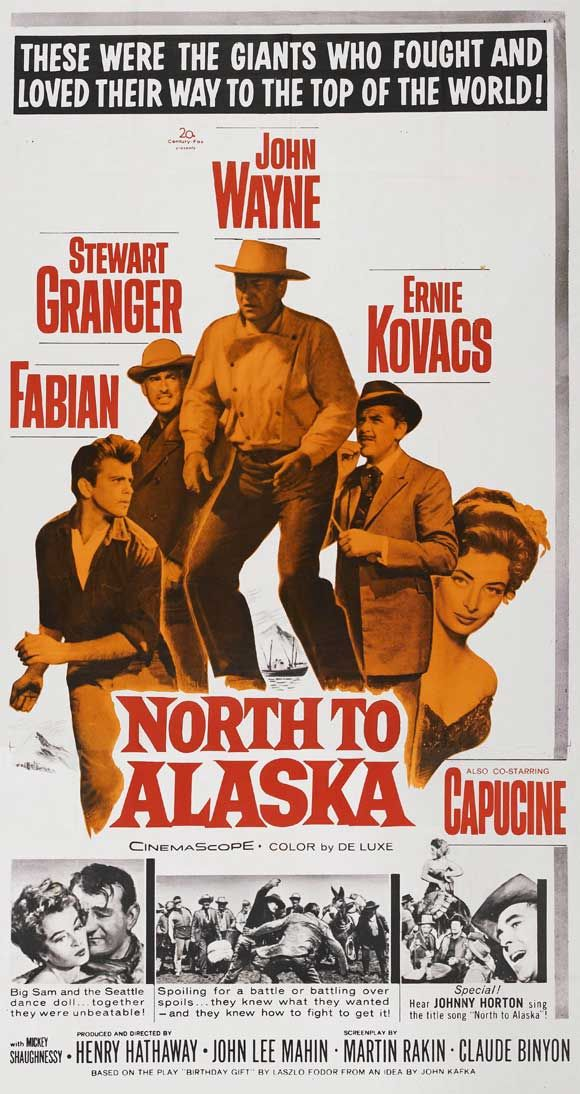 John Wayne Movie Poster (North to Alaska) http://dunway.com