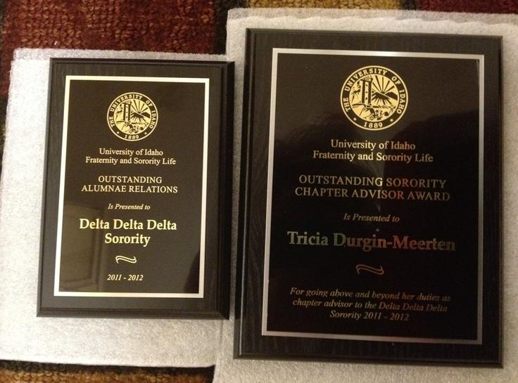 Theta Tau, Idaho, received the Outstanding Alumnae Relations award & Outstanding Sorority Chapter Advisor award, Tricia Durgin-Meerten. Congrats!