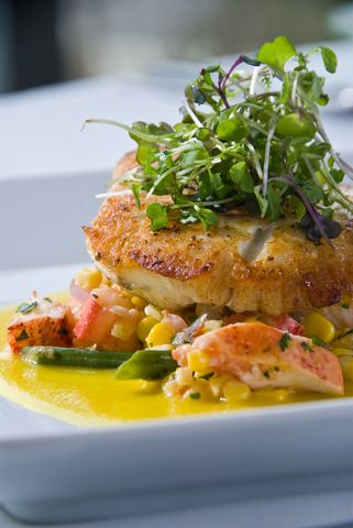 Garlic Lemon Hake with Lobster Risotto | Recipe Publishing Network