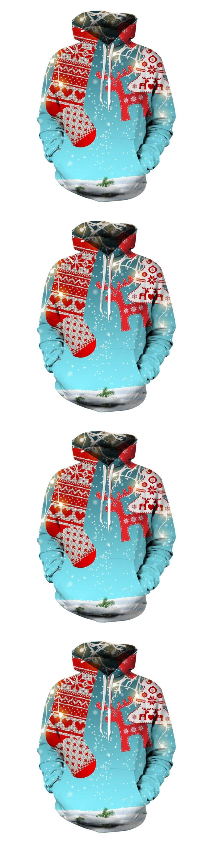 2017 sweatshirt Hoodies Men women Cool creative 3D print Christmas Stockings elk fashion hot Style Streetwear Clothing wholesale