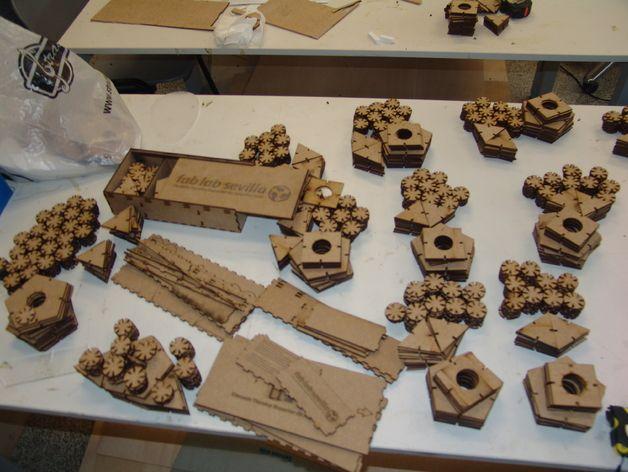 Kit de Construcción Tridimensional. Poliedros regulares by fablabsevilla - Thingiverse
