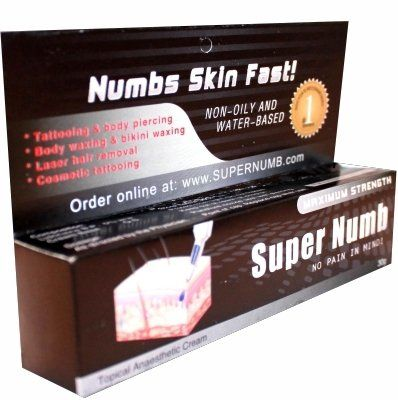 30g SUPER NUMB Anesthetic Skin Numbing Cream Numb Tattoo Laser Piercing Waxing FAST SHIPPING