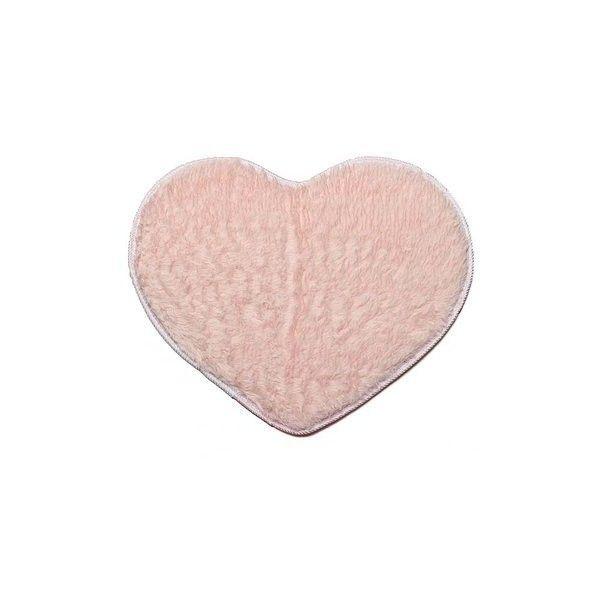 50x60cm Heart Shape Door Mat Bathroom Bedroom Floor Carpet (€4,66) ❤ liked on Polyvore featuring pink