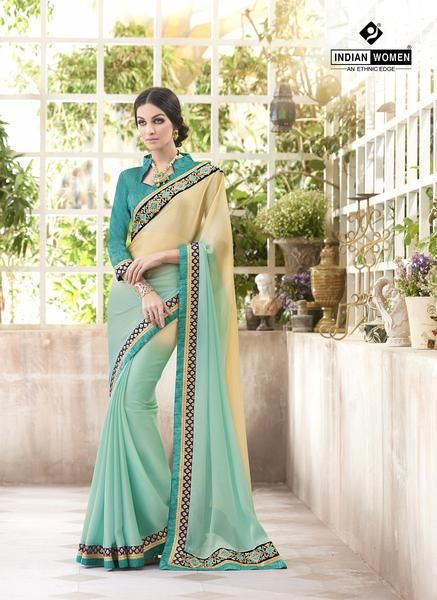Buy online partywear Indian Fancy Saree Blended With Multi Colour Suited For Parties Available With Blouse Piece From Simaaya Fashions With Shipping Globally.