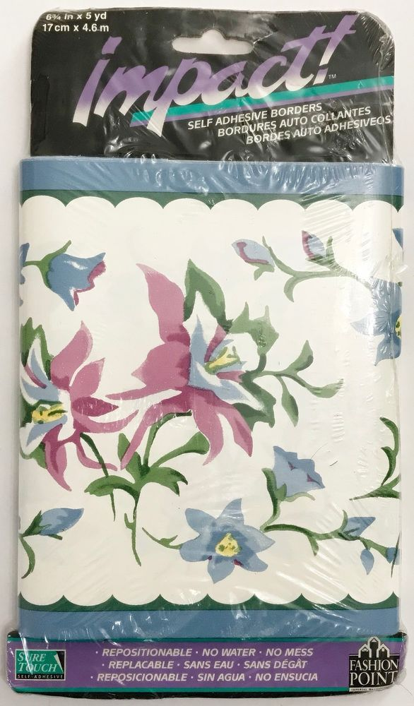 Imperial Wallcoverings Impact Sweet Meadow Floral Wallpaper Border Trim Vintage #ImperialWallcoveringsInc
