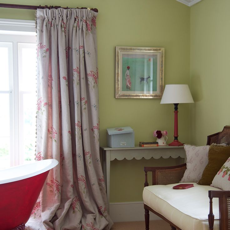 Country Home Suitable Printing Curtains Decorating Ideas: Love The Trim On These Curtains