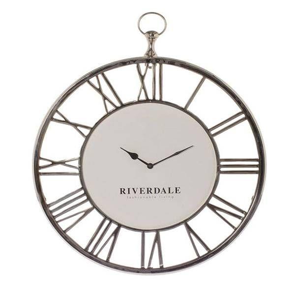 Riverdale Wandklok Luton Zilver - 50x6xH60 cm - Sweet Living Shop