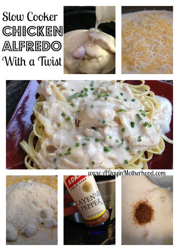 Slow Cooker Chicken Alfredo   in the pot   Pinterest