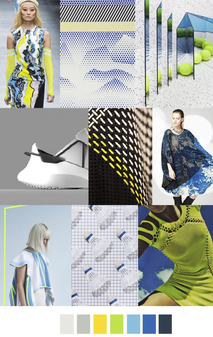 S/S 2017 colors & patterns trends: EXTREME ATHLEISURE: Mesh and Colours