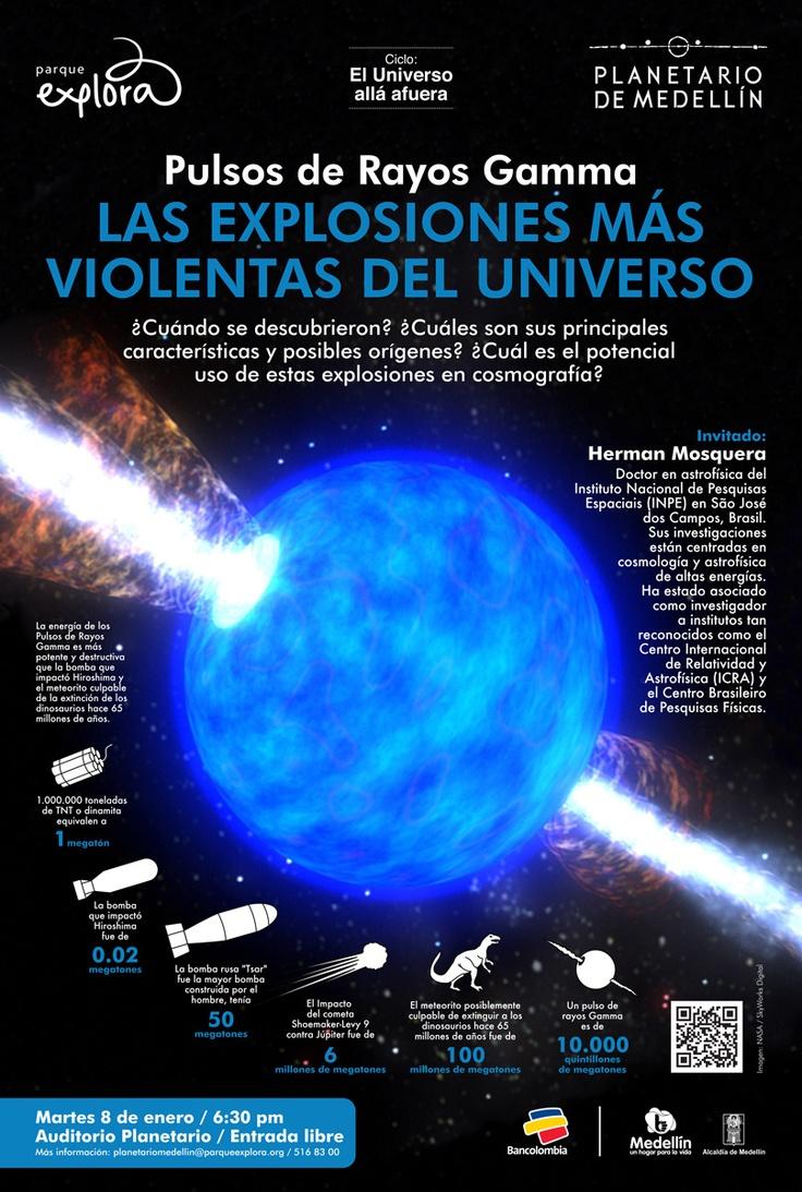 【  PULSOS DE RAYOS GAMMA  】  Las explosiones más violentas del Universo / Planetario de Medellín.