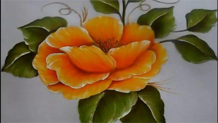 Pintura textil paso a paso Flor Amarilla, Textile painting, How to paint...