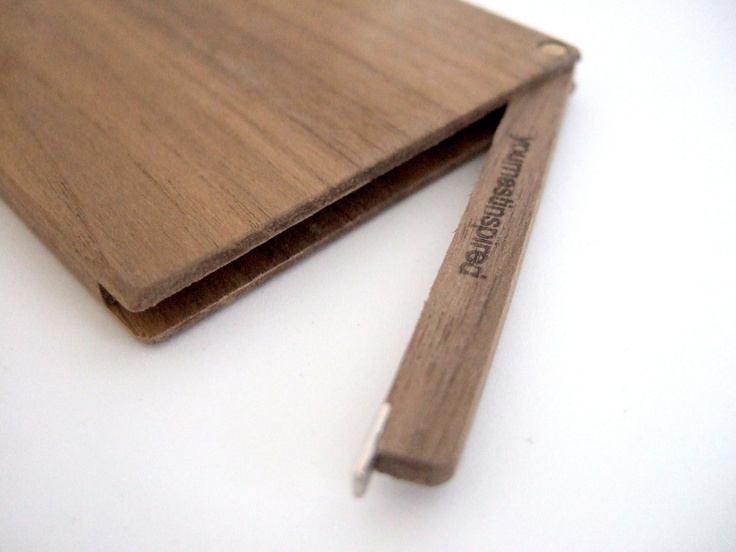 wallet. slim wood.. $55.00, via Etsy.