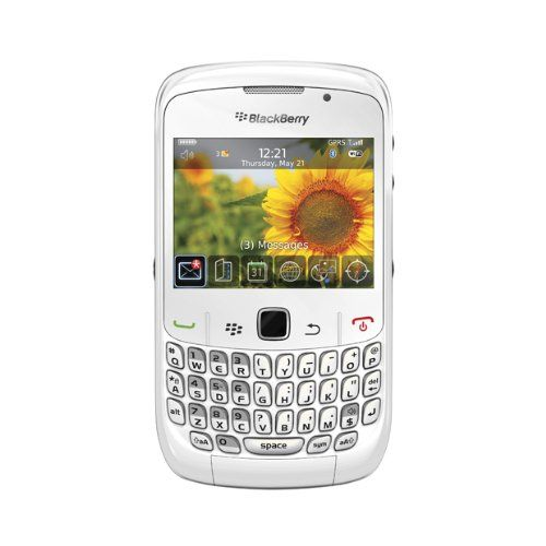 BlackBerry Curve 8520 Quad-Band Unlocked Cell Phone with 2 MP Camera, Bluetooth and Wi-fi - US Warranty-White $185.00