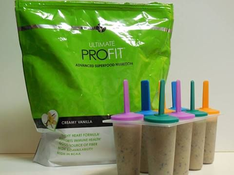 Profit made with Soy Milk and blueberries then frozen. www.45min2getskinny.com