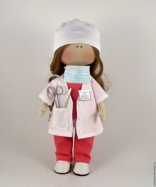 Куклы тыквоголовки ручной работы. Интерьерная кукла хирург. Светлана Кладикова. Интернет-магазин Ярмарка Мастеров. Кукла ручной работы