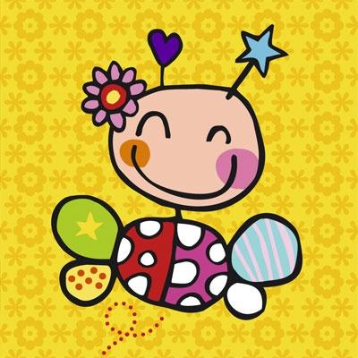 Vrolijk geboortekaartje - Lief beestje. http://www.tanjameteenrietje.nl/a-22017336/meisje/am16-lief-beestje/