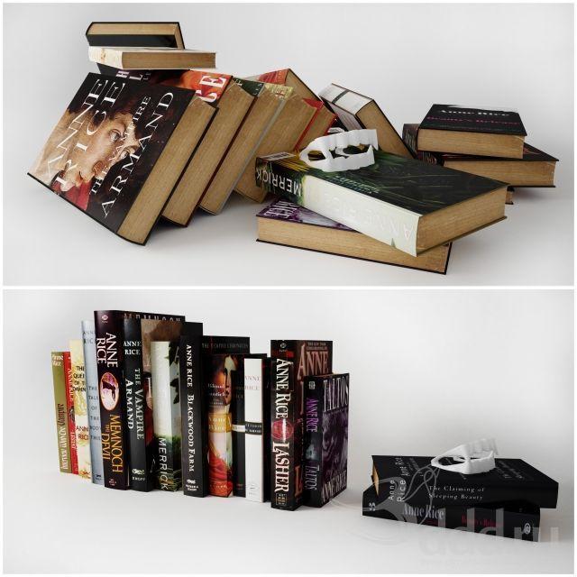 """""""PROFI"""" Книги Энн Райс 3dsMax 2012 + fbx (Vray) : Другие предметы интерьера : Файлы : 3D модели, уроки, текстуры, 3d max, Vray"""