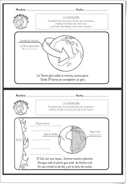 """""""La rotación de la Tierra"""" (Ciencias Sociales de 2º y 3º de Primaria)"""