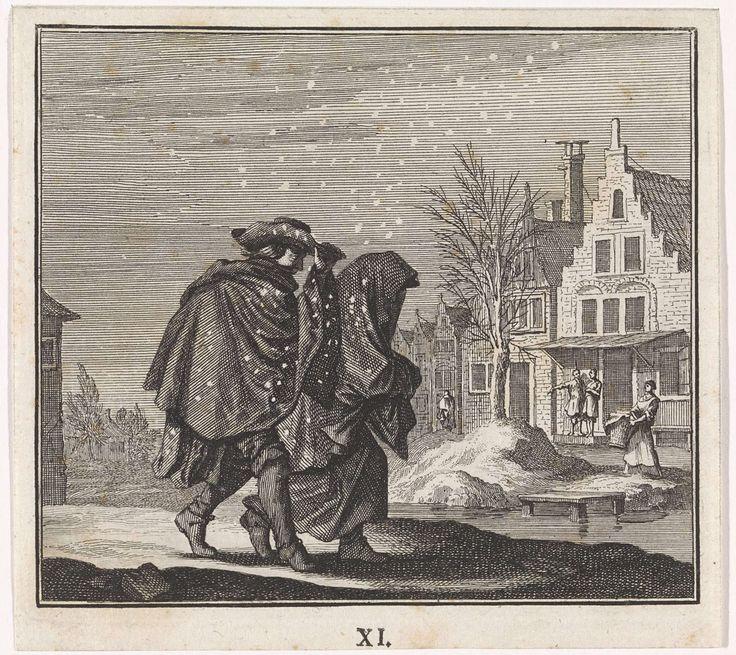 Embleem: sneeuw, Caspar Luyken, Jan Luyken, Christoph Weigel, c. 1700