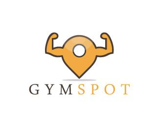 Gym Spot Logo design - The combination of map icon and the gym, The two hands strong hands emerge from the map icon. The hands show the gym.<br /><br />This logo is ideal for bodybuilding supplements, bodybuilding equipment, bodybuilding center, bodybuilding competitions, gym center, sports club, fitness club, health club, Price $350.00