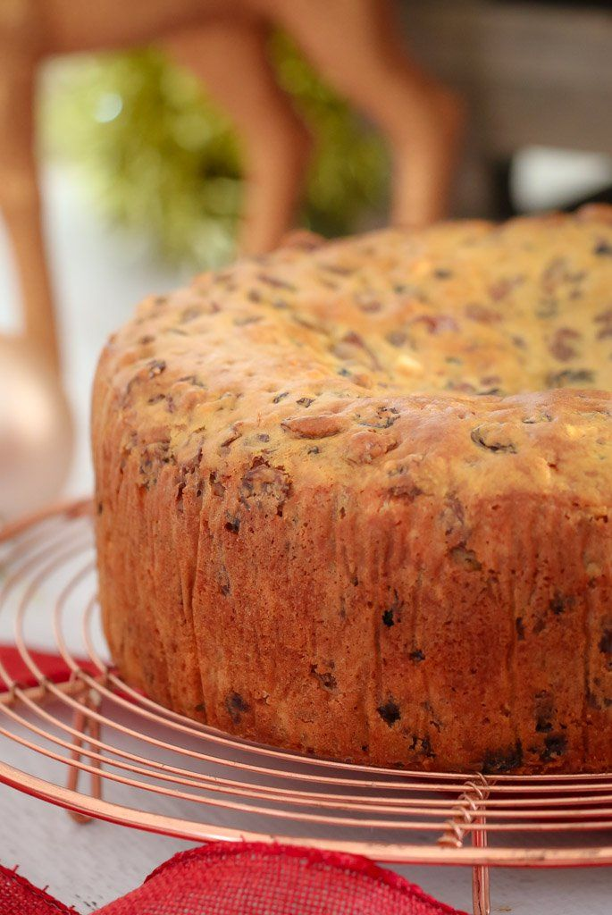 Introducing the famous and award winning 3 Ingredient Christmas Cake (fruit cake) made from mixed fruit, iced coffee and self-raising flour!
