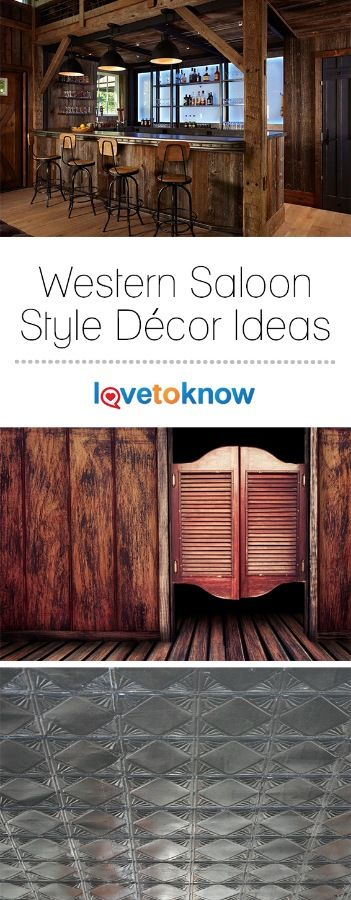 If you love history or the Old West in particular, consider a Western saloon theme in a kitchen, home bar, basement, man cave or game room. Transforming a room into an Old West saloon can be done all at once or over time, as your budget allows. #homedecor | Western Saloon Style Decor Ideas from #LoveToKnow