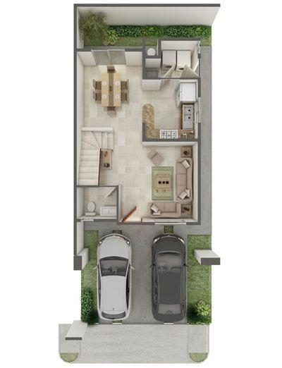 17 best images about house fachadas on pinterest house for Modelos de departamentos