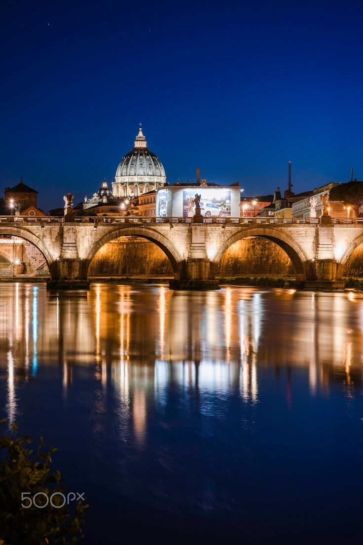 Saint Peter Church from the Tevere river in Rome.