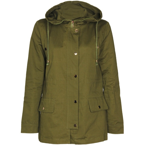 Rayna Hooded Canvas Parka ($60) ❤ liked on Polyvore