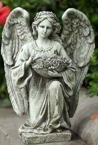 "Roman 14-inch Kneeling Angel Garden Statue by Roman. $41.04. This item may NOT arrive by Christmas if purchased after 12/19 regardless of shipping method chosen. Items not shipped in time for Christmas will not ship until Wednesday, January 2.. Resin/Stone Mix. 15""H. 79""X 45""Fontanini Crucifix"