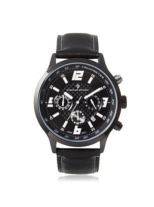 77% OFF Christian Van Sant Men's CV3123 Speedway Black/Silver Alloy Watch