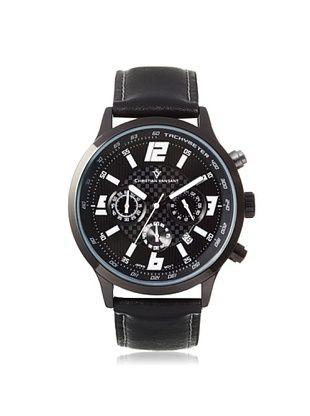 77% OFF Christian Van Sant Men's CV3123 Speedway Black/Silver Alloy Watch