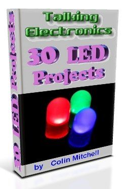 30 LED Projects. Designs, schematics, e-book, and electronic symbols.