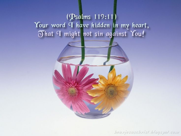 Confidence In God Verses | Christian Wallpapers: Bible Verse Wallpaper - Psalms 119:11