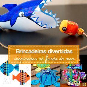 Sugestões de ideias criativas para estimular as crianças a brincar de fundo do mar. Atividades artísticas que estimulam a criatividade e a imaginação.