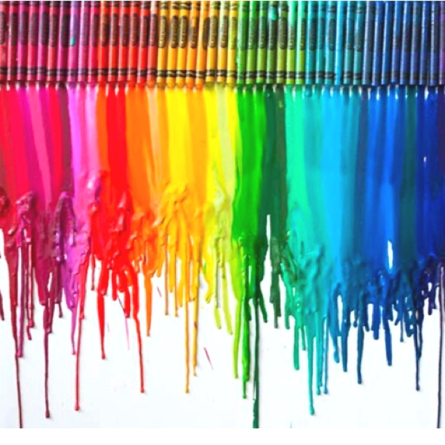 Melted crayon craft try it art pinterest melted for How to make a melted crayon art canvas
