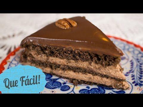 Pastel de chocolate. Sin horno. ¡Super facil!