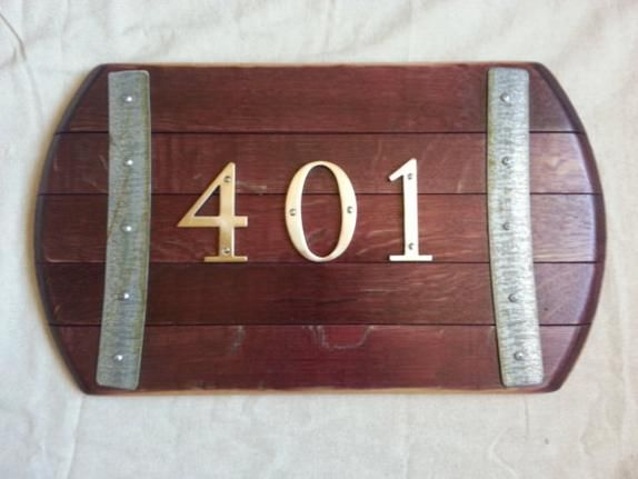 Now You Can Display Your Home Address In Napa Style Each Wine Barrel Sign Is Individually Crafted Using A Genuine Reclaimed Oak And