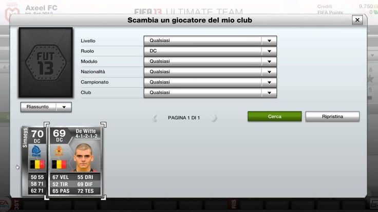 Fifa 13 | Squad Builder ITA | by OhAxeel - Fifa 13 Ultimate Team una squ...