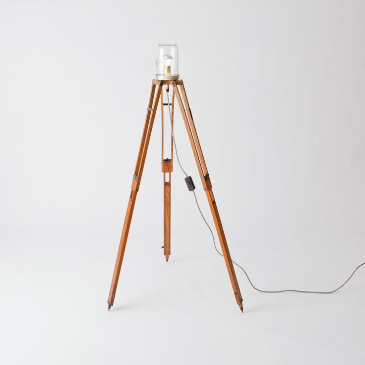 vintage photographer's tripod lamp | Folklore shop