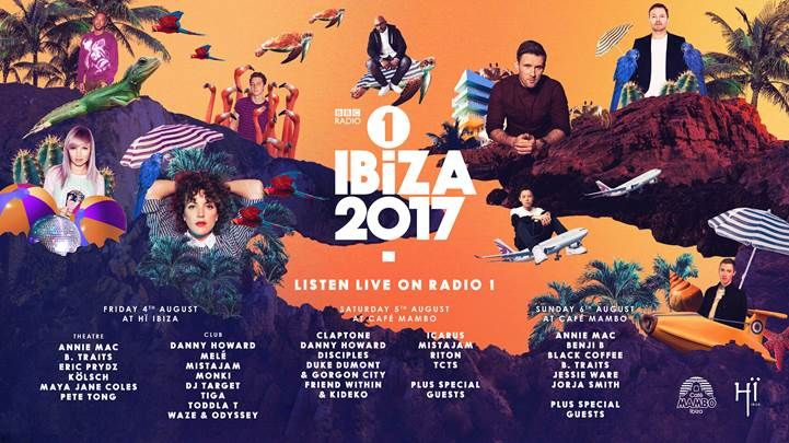 #housemusic Scorching line-up of dance names announced for BBC Radio 1 in Ibiza: This evening on BBC Radio 1, Annie Mac announced that a…